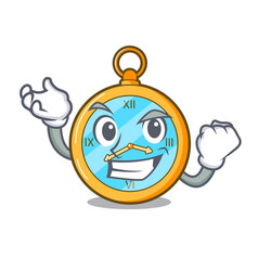 Successful classic watch isolated on a mascot vector