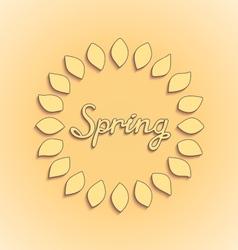 Sunshine spring card design vector image