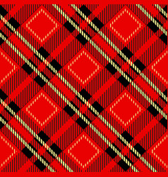 tartanplaid pattern backgroundfolk retro vector image