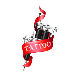 tattoo machine ribbon vector image