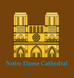 Travel banner or logo the famous cathedral of vector