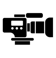 tv camera icon simple black style vector image
