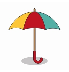 Umbrella travel isolated icon vector