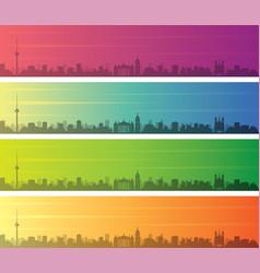 vilnius multiple color gradient skyline banner vector image