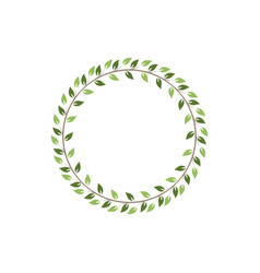 vintage floral round frames green decorative ivy vector image