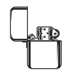 vintage monochrome metal lighter concept vector image