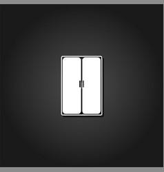 wardrobe or cupboard icon flat vector image