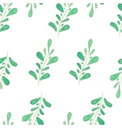 Watercolor seamless pattern with hand drawn vector