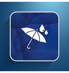 waterproof icon water proof symbol umbrella vector image