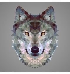 Wolf low poly portrait vector