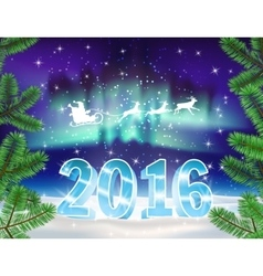 2016 christmas background vector image