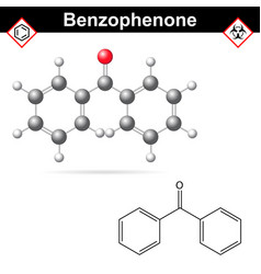 benzophenone organic chemical vector image vector image