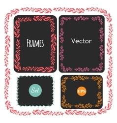 Color hand drawn frames set elements vector image