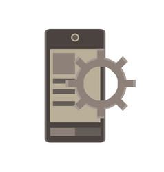 mobile app flat icon business development device vector image