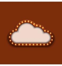 modern concept retro billboard and cloud vector image vector image