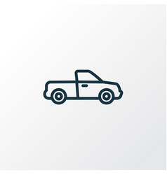 pickup outline symbol premium quality isolated vector image vector image