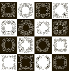 set of calligraphic vintage frames vector image vector image