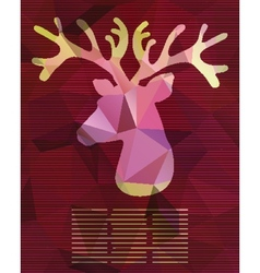 abstract card with deer from triangles vector image vector image
