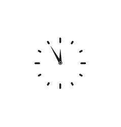 clock time work icon vector image