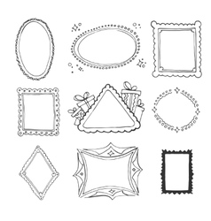 Collection of decorative loop frames vector image