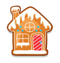 Gingerbread cookies house of merry vector