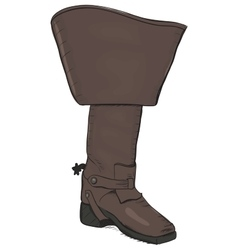 Old style boot with spurs EPS8 vector image