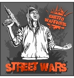 Ghetto Warriors Gangster on vector image vector image