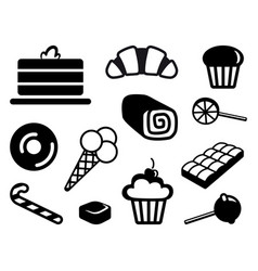 icons of sweets vector image