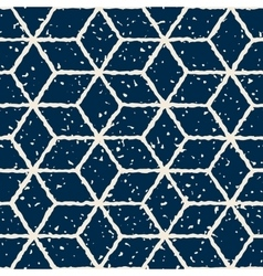 Seamless Hand Drawn Star Shape Grunge Retro vector image vector image