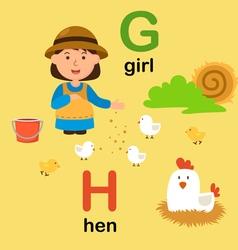 alphabet g h vector image