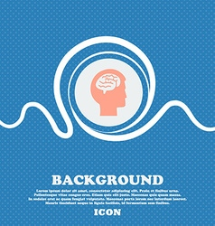 Brain sign Blue and white abstract background vector image
