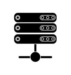 data server technology system pictogram vector image