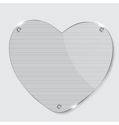 Glass heart frame vector image vector image