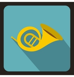 Horn trumpet icon flat style vector image