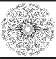 mandala floral flower oriental coloring book page vector image