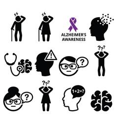 Seniors health - alzheimers disease and dementia vector