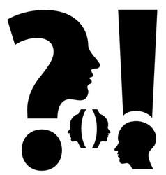unusual exclamation mark question mark brackets vector image vector image