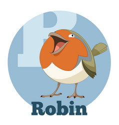 abc cartoon robin vector image
