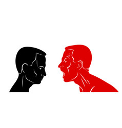 Abuse verbal aggression and anger man face vector