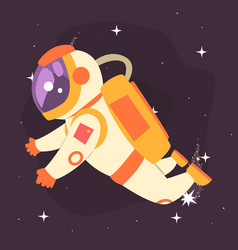 Astronaut floating in outer space vector