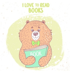 bear and book vector image vector image