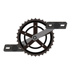 Bicycle sprocket with pedal vector