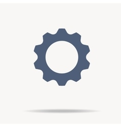 blue gear icon Single flat icon on white vector image