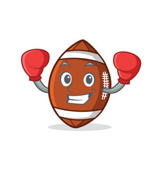 Boxing american football character cartoon vector