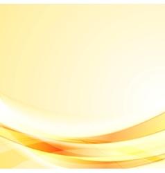 Bright smooth orange shiny waves background vector