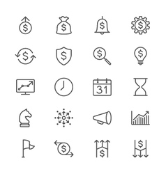 Business thin icons vector