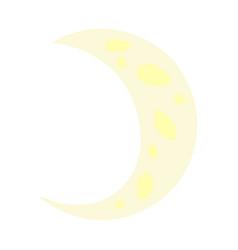 cartoon doodle a crescent moon vector image