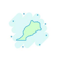cartoon morocco map icon in comic style morocco vector image