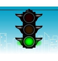 Cartoon style traffic light vector image