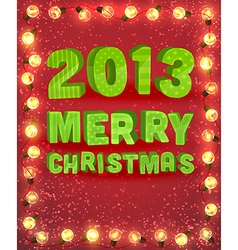 Christmas banner with fairy lights vector